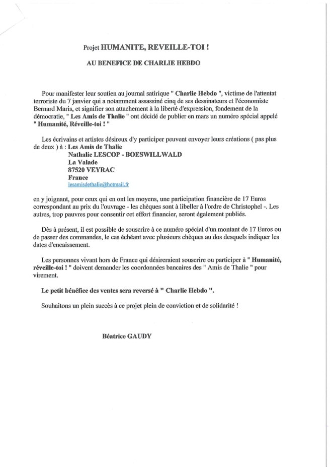 Projet Humanité - Charlie-Hebdo