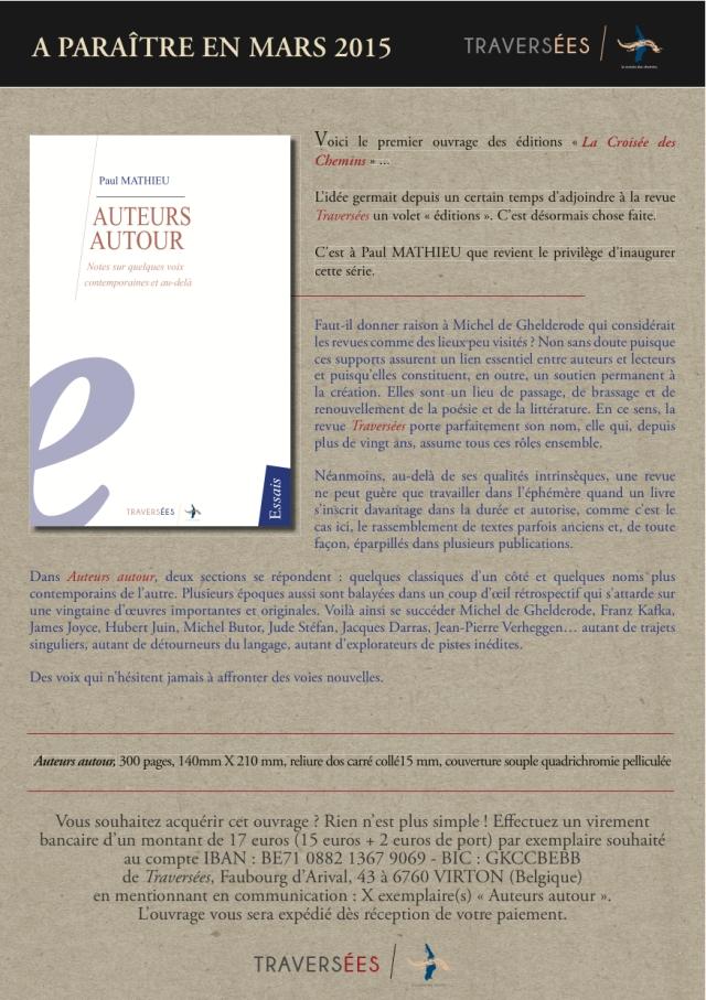 Traversées - Auteurs autour - Bulletin de souscription - 20 3 15-1