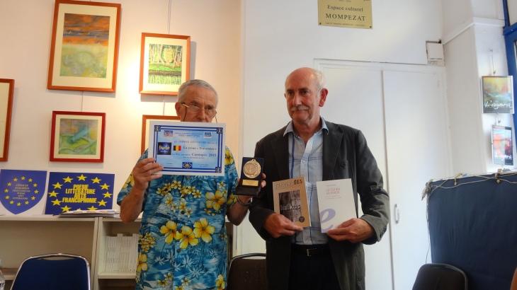 Patrice Breno recevant le prix Cassiopée 2015