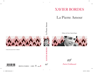 La Pierre Amour. Xavier Bordes