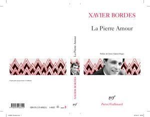 La Pierre Amour. Xavier Bordes
