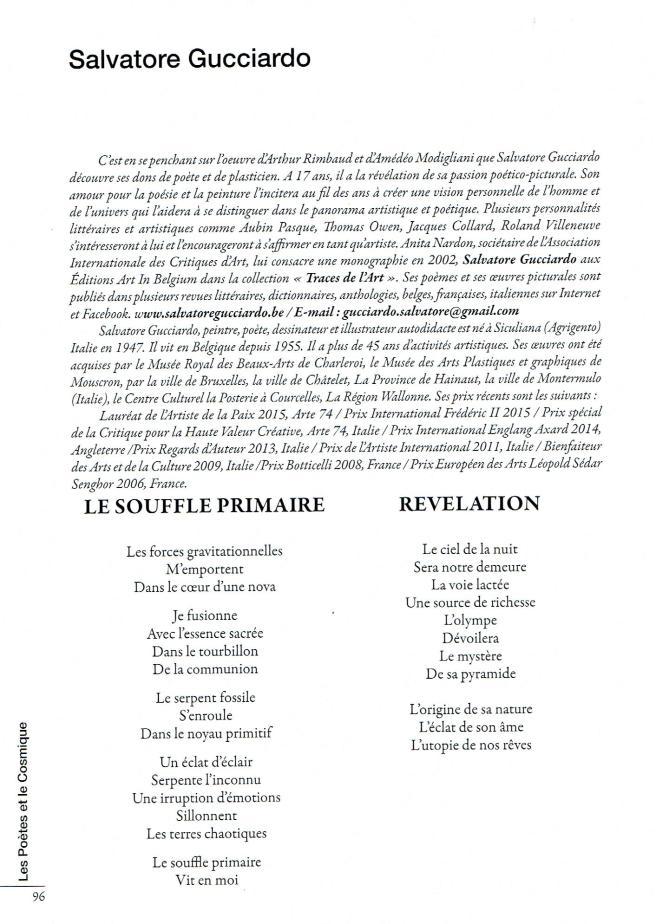 Les Poètes et le Cosmique, Anthologie de poésie 2015 par J.P Béchu et Marguerite Chamon, Les Editions du Net   3