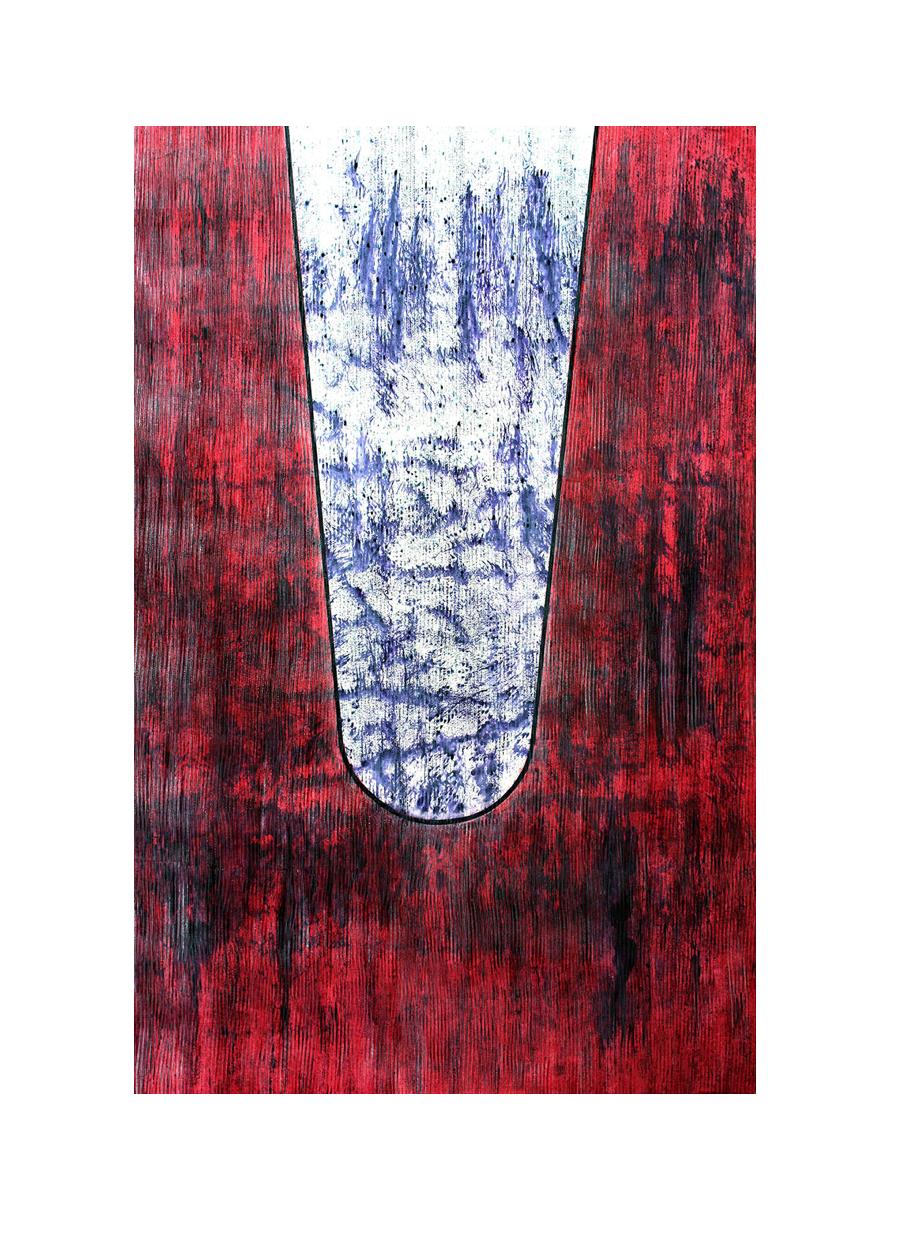 Hommage à Nissrine SEFFAR, peintre qui laisse littéralement les sols traverser sa toile…