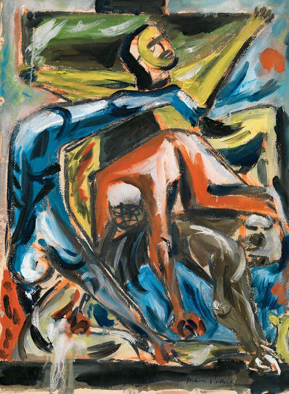 « Moment Génétique et Crucifixion , Pollock, Newman, Tal-Coat»