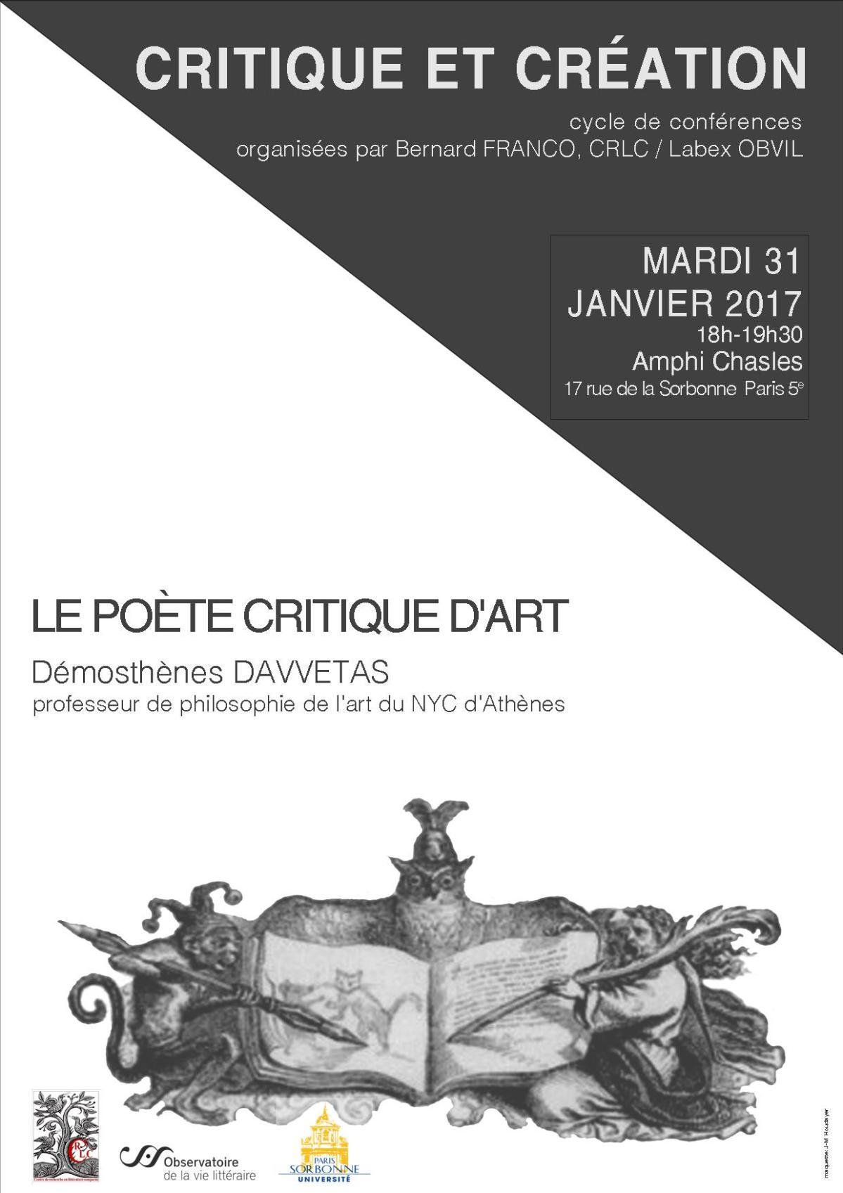 Mardi 31 janvier 2017-cycle de conférences-Démosthènes Davvetas