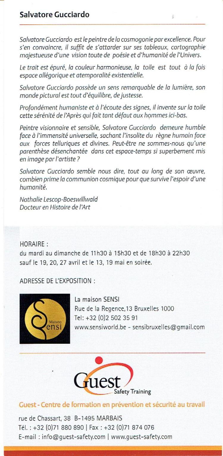 Exposition S.Gucciardo Maison Sensi Bruxelles Sablon 2