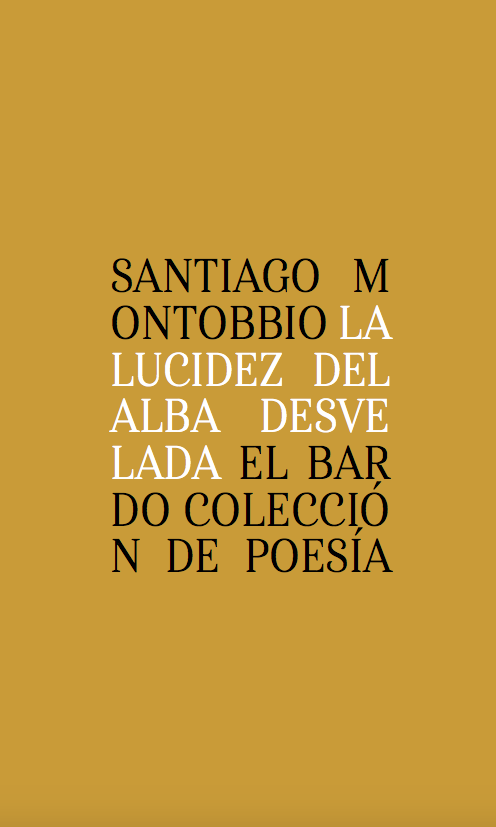 Portada libro Santiago Montobbio La lucidez del alba desvelada