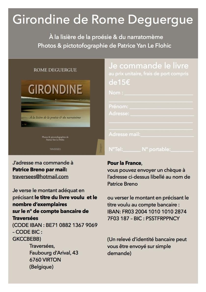 Girondine Bulletin de commande