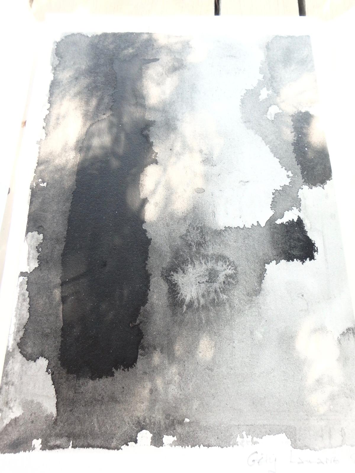 Géry Lamarre, Rivages de la nuit, poèmes et peintures, édition unique,2018